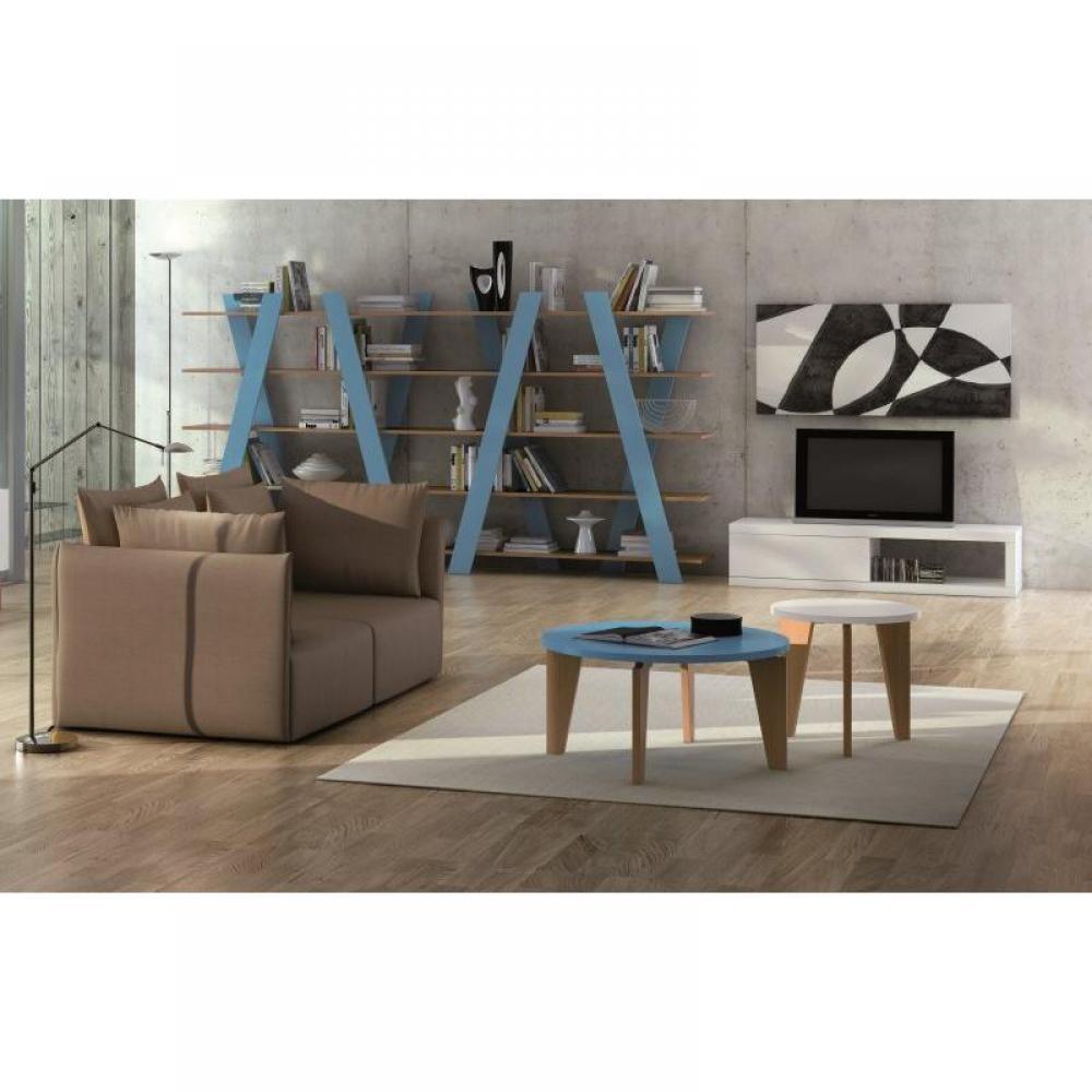 Meubles tv meubles et rangements temahome atoll meuble tv blanc mat avec rangements inside75 - Meuble tv et rangement ...