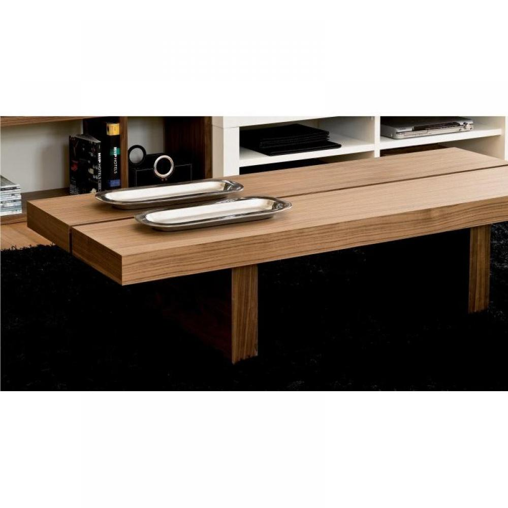Grande table basse avec rangement for Grande table design