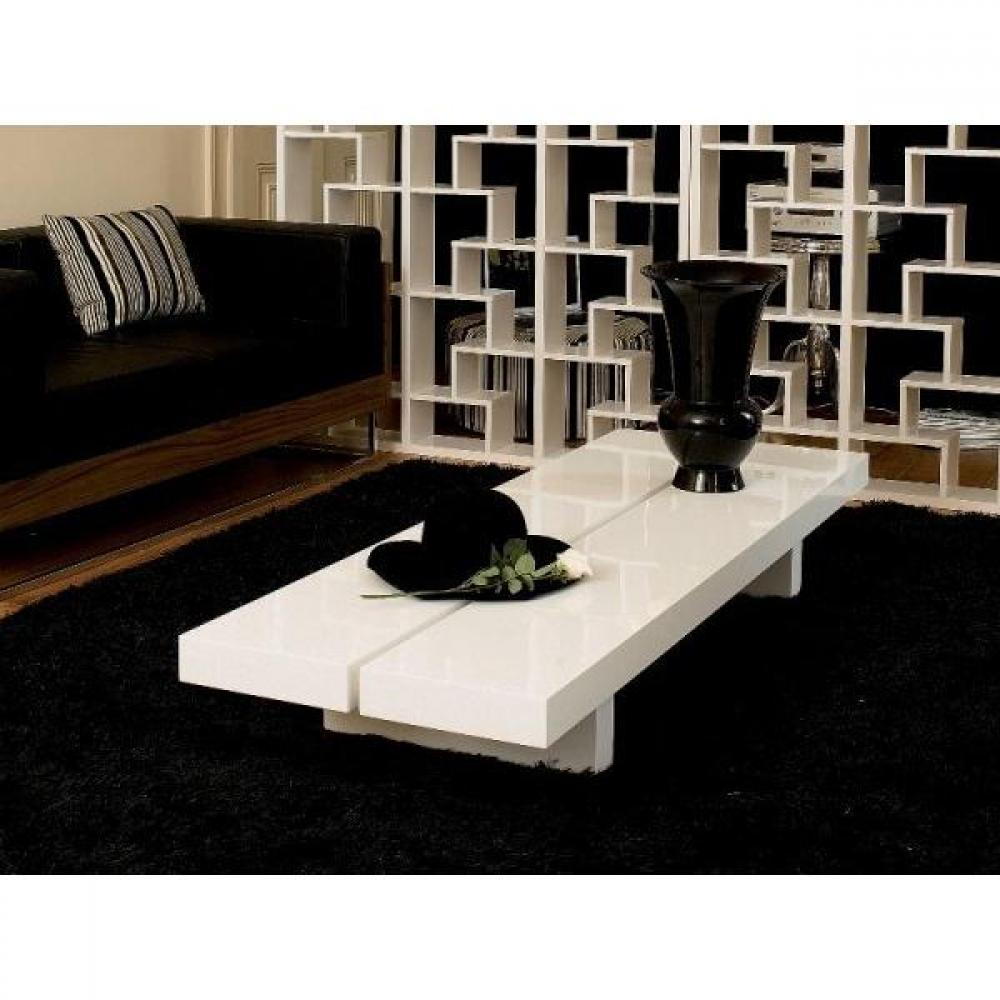 les concepteurs artistiques grande table basse blanc laque. Black Bedroom Furniture Sets. Home Design Ideas