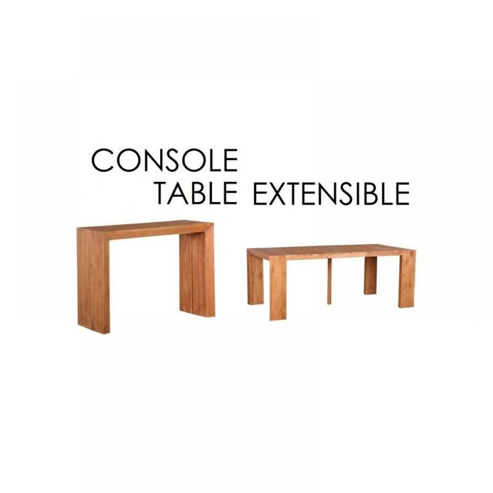 consoles extensibles tables et chaises console table extensible authentique 3 allonges 196cm. Black Bedroom Furniture Sets. Home Design Ideas
