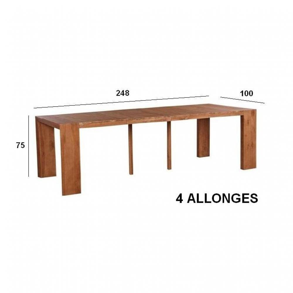 Table bois massif noyer for Table bois massif extensible