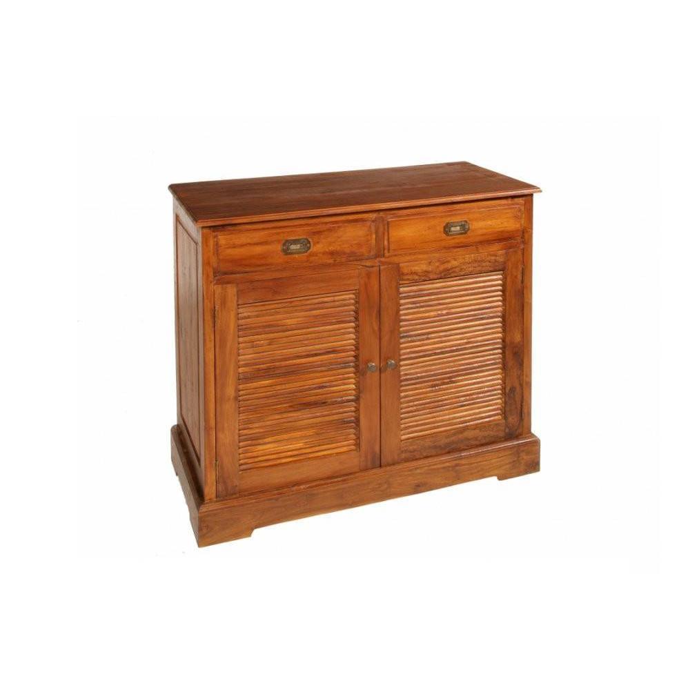 Buffets meubles et rangements buffet en teck massif 2 portes 2 tiroirs styl - Buffet en teck massif ...
