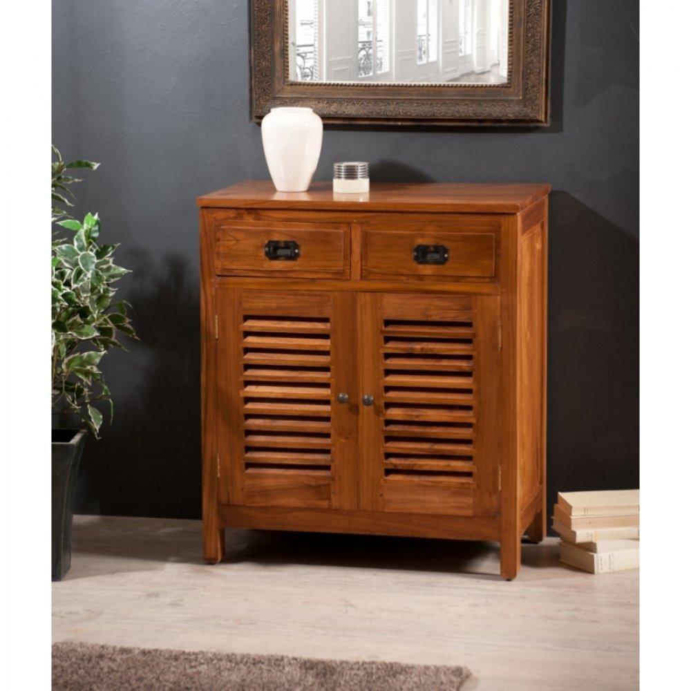 Buffets meubles et rangements bahut 2 portes persienne api en teck inside75 - Bahut 2 portes ...