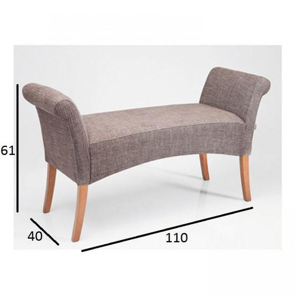 bancs tables et chaises banc maxwel gris inside75. Black Bedroom Furniture Sets. Home Design Ideas