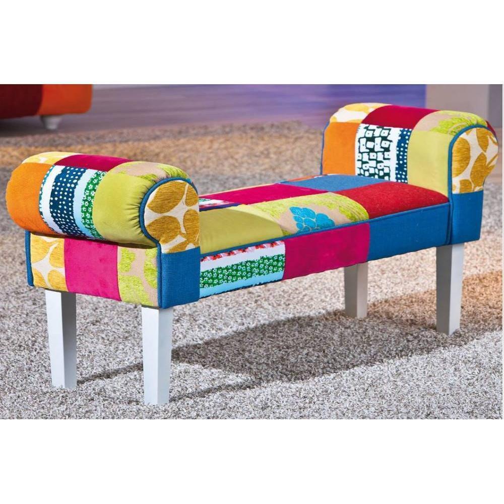 poufs et reposes pieds canap s et convertibles pouf capitonn sao bento patchwork inside75. Black Bedroom Furniture Sets. Home Design Ideas