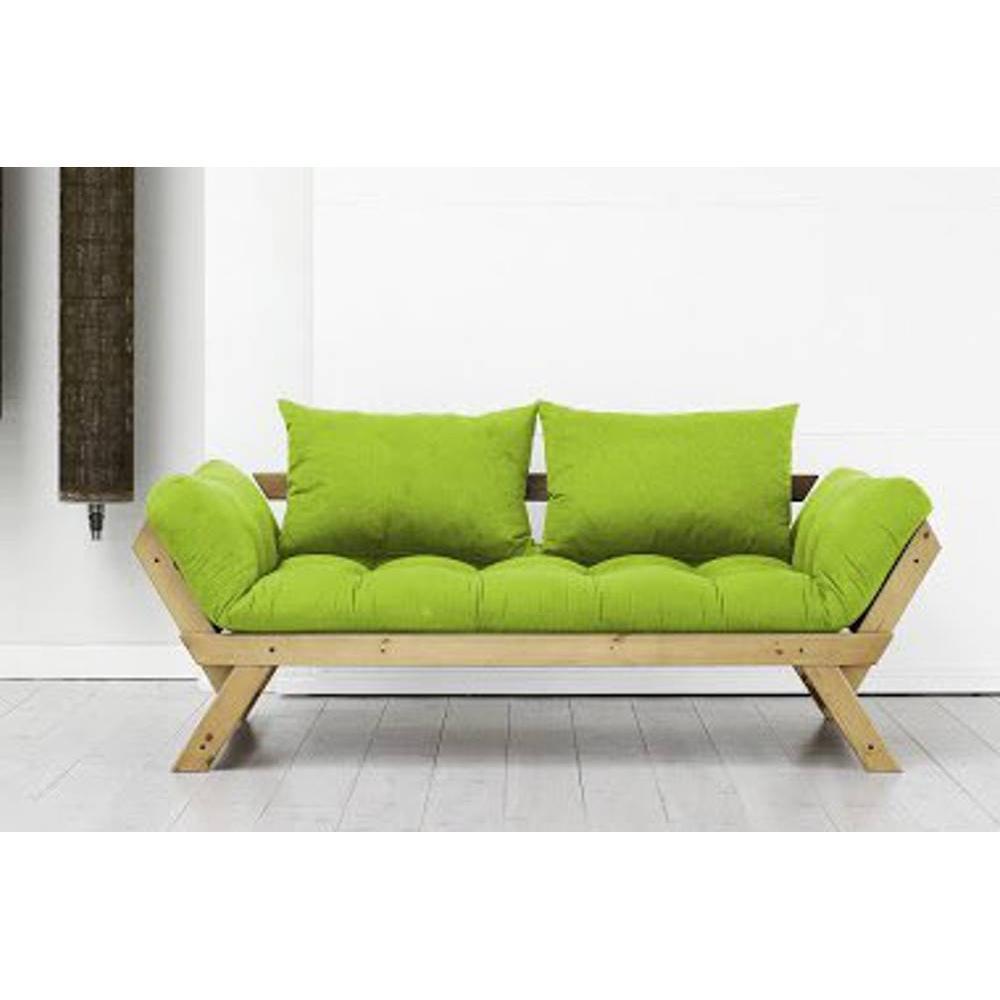 Canap s futon canap s et convertibles banquette m ridienne pin massif miel - Banquette futon convertible ...