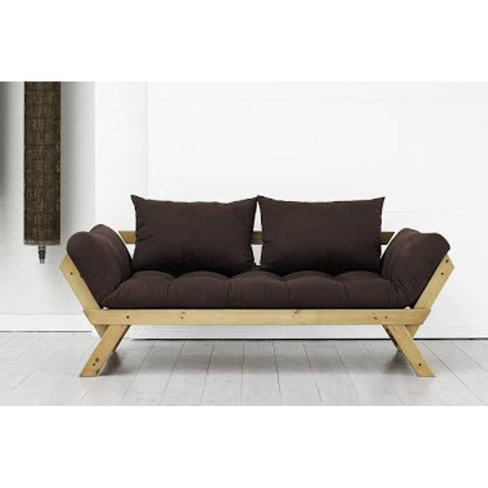 canap s futon canap s et convertibles banquette m ridienne pin massif miel futon marron bebop. Black Bedroom Furniture Sets. Home Design Ideas