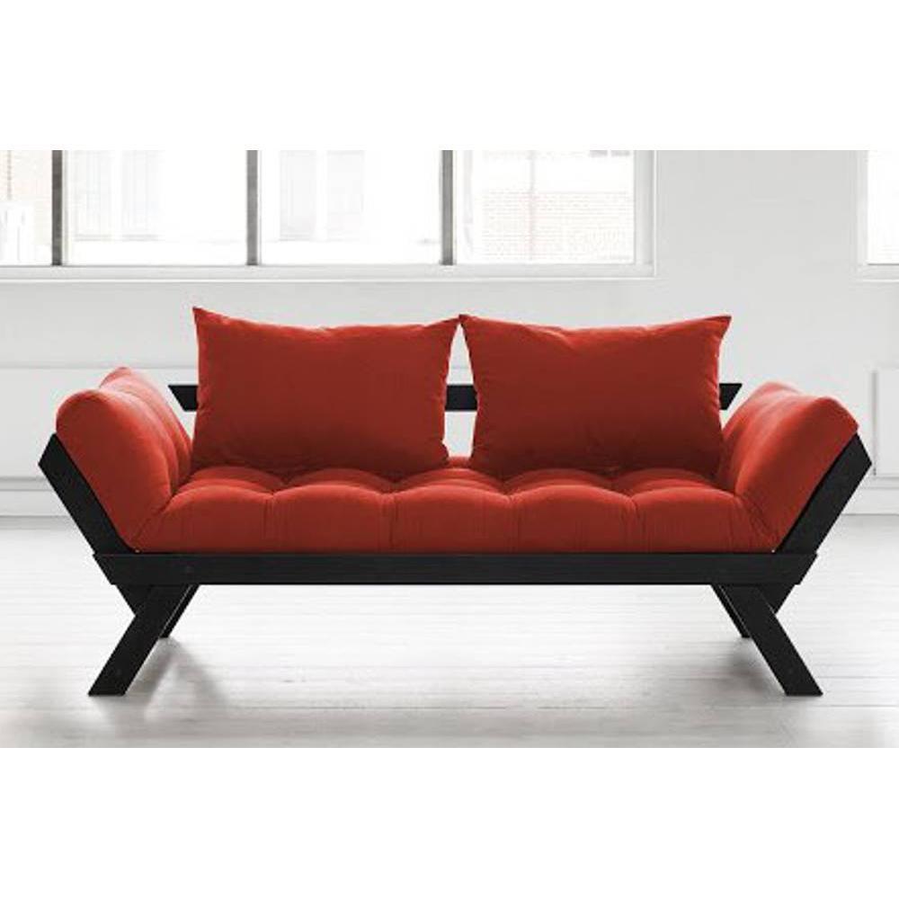 canap s futon canap s et convertibles banquette m ridienne noire futon rouge bebop couchage 75. Black Bedroom Furniture Sets. Home Design Ideas