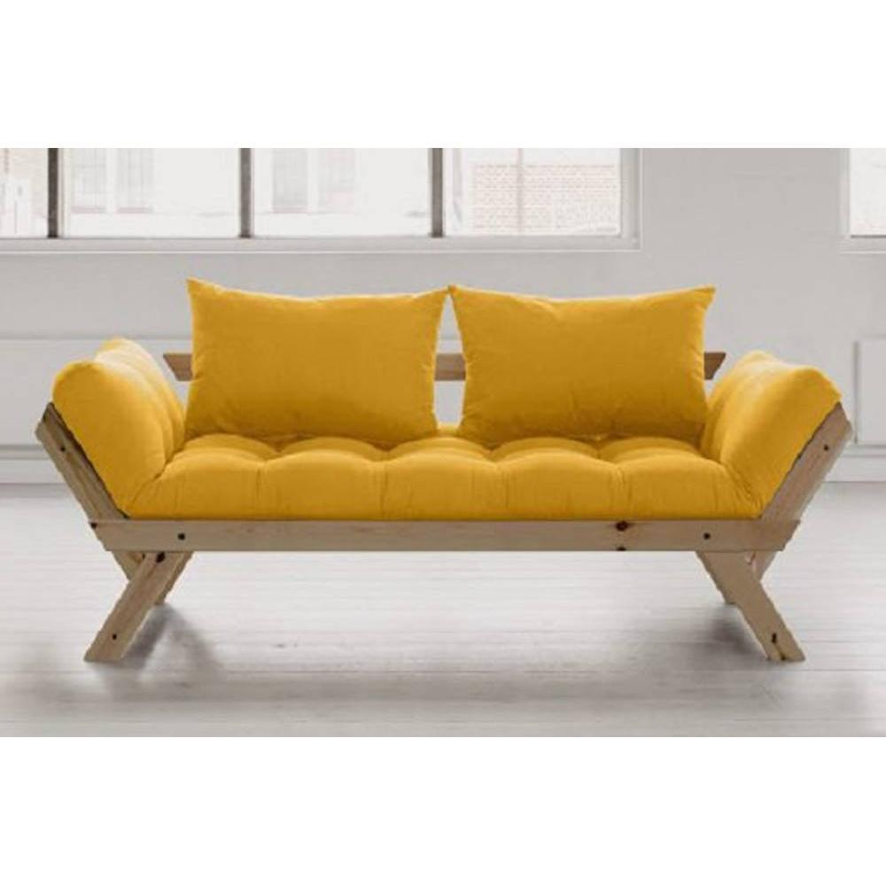canap s futon canap s et convertibles banquette m ridienne style scandinave futon jaune bebop. Black Bedroom Furniture Sets. Home Design Ideas