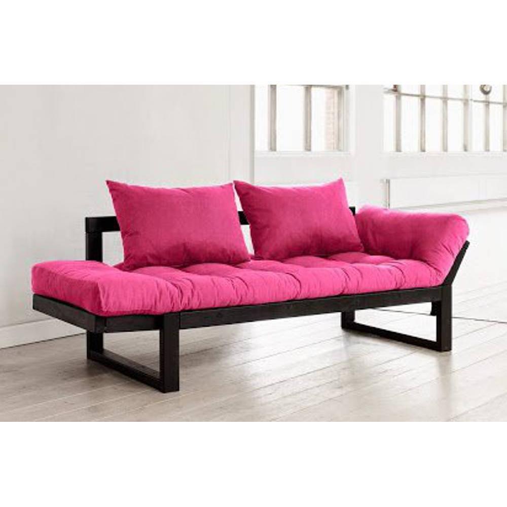 canap s futon canap s et convertibles banquette m ridienne noire futon rose edge couchage 75 200cm. Black Bedroom Furniture Sets. Home Design Ideas