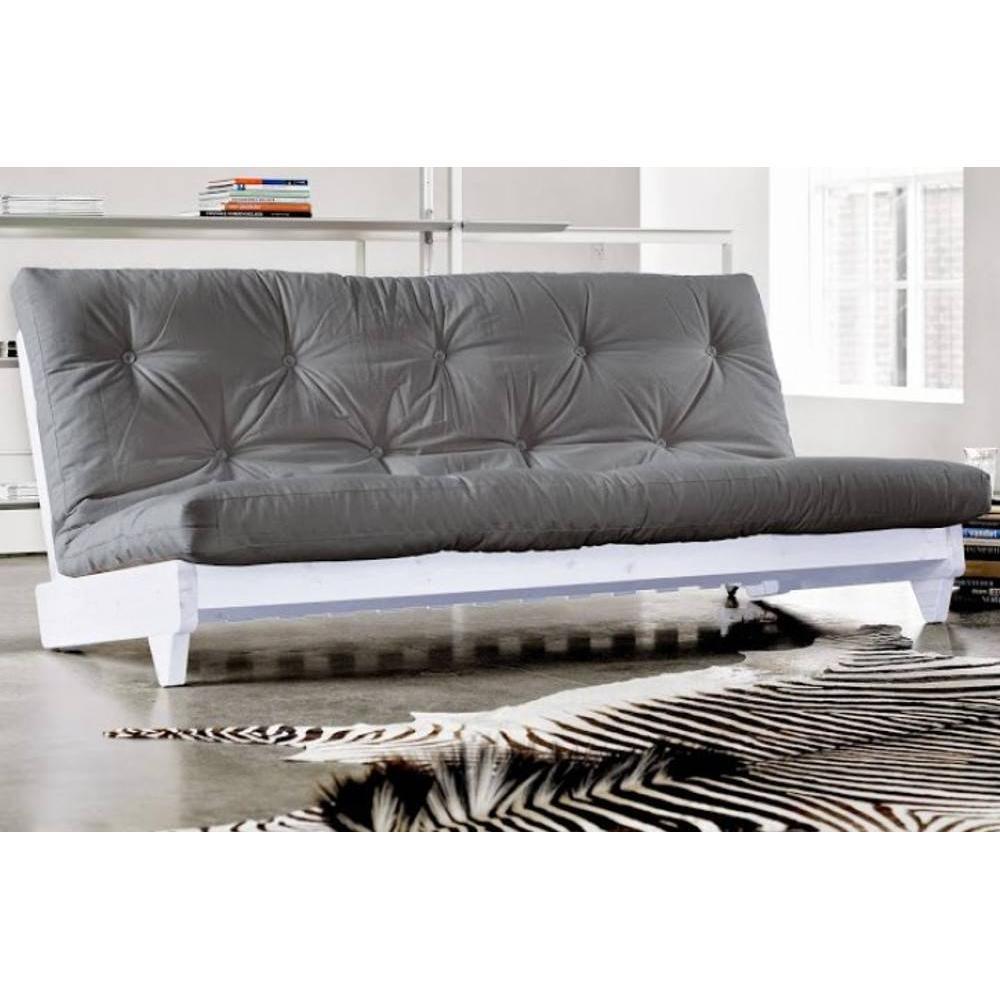Canap s futon canap s et convertibles banquette lit blanc futon gris fresh - Banquette lit convertible ...