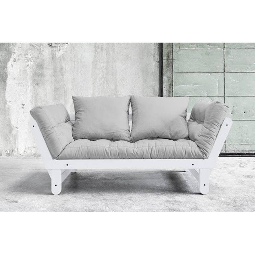 canap s futon canap s et convertibles banquette m ridienne blanche convertible futon gris beat. Black Bedroom Furniture Sets. Home Design Ideas
