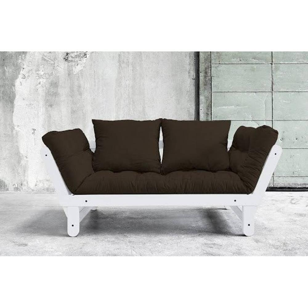canap s futon canap s et convertibles banquette m ridienne blanche convertible futon chocolat. Black Bedroom Furniture Sets. Home Design Ideas