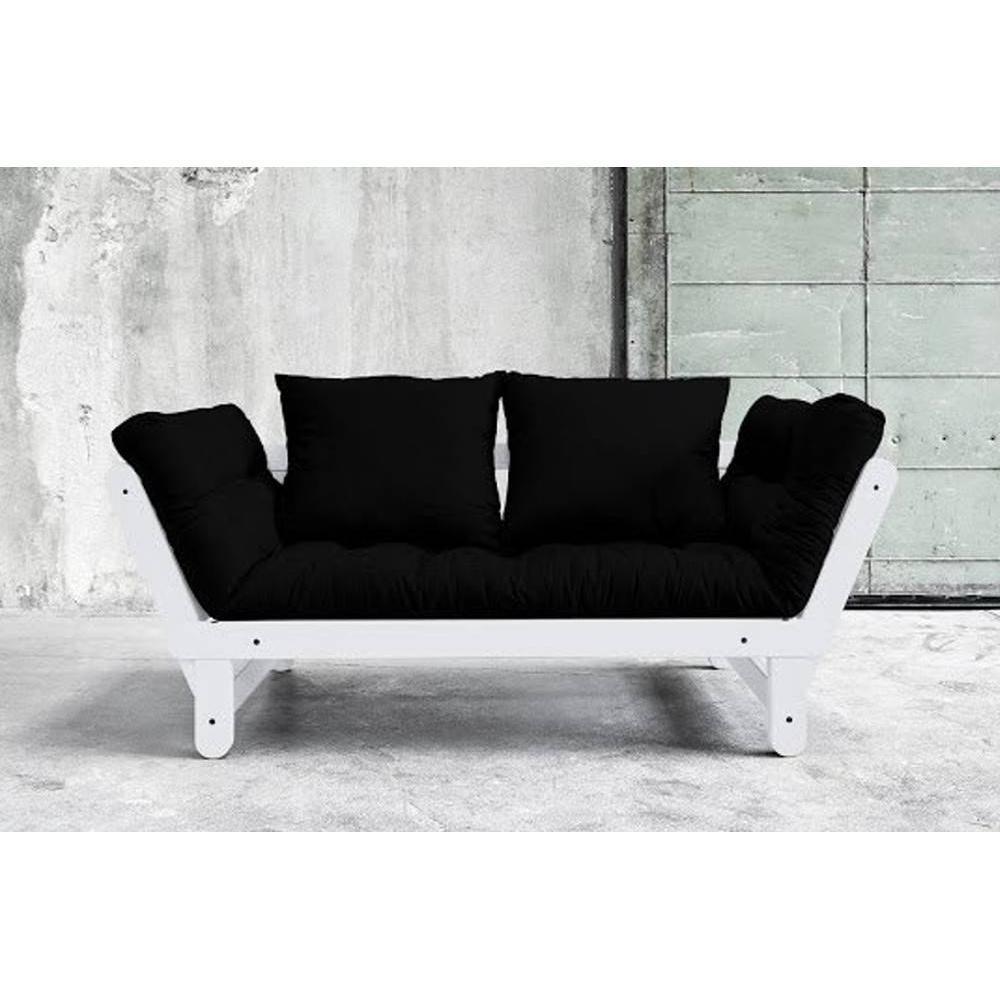 canap s futon canap s et convertibles banquette m ridienne blanche convertible futon noir beat. Black Bedroom Furniture Sets. Home Design Ideas