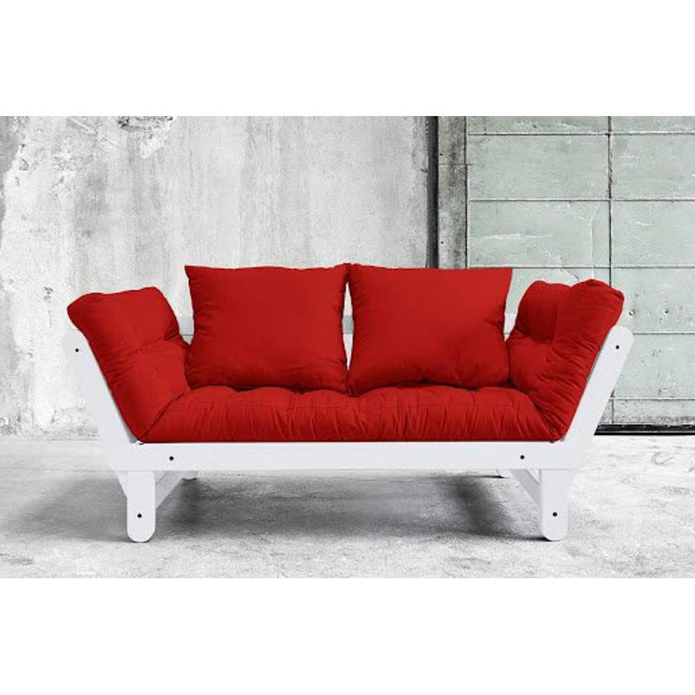 Canap s futon canap s et convertibles banquette m ridienne blanche converti - Banquette futon convertible ...