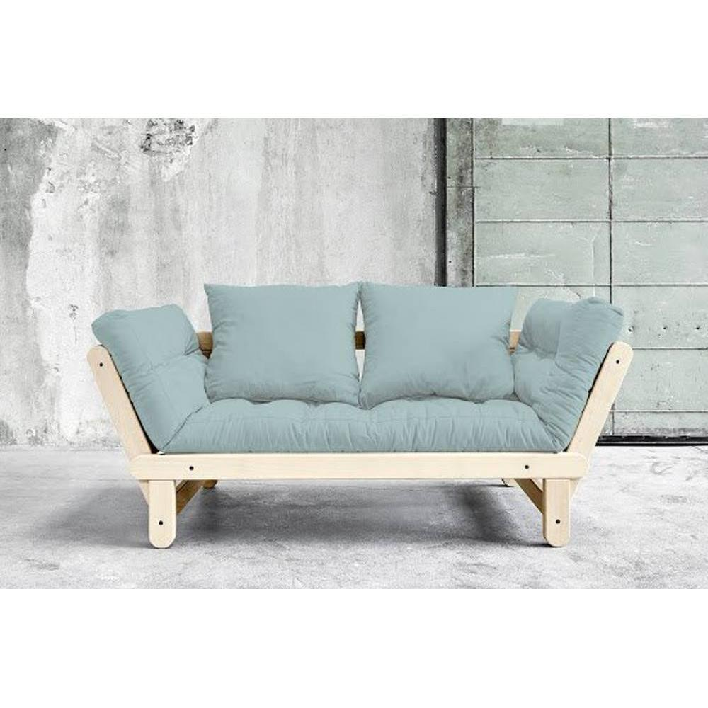 canap s futon canap s et convertibles banquette m ridienne style scandinave futon bleu clair. Black Bedroom Furniture Sets. Home Design Ideas