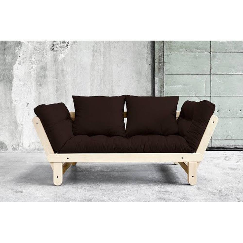 canap s futon canap s et convertibles banquette m ridienne style scandinave futon marron beat. Black Bedroom Furniture Sets. Home Design Ideas