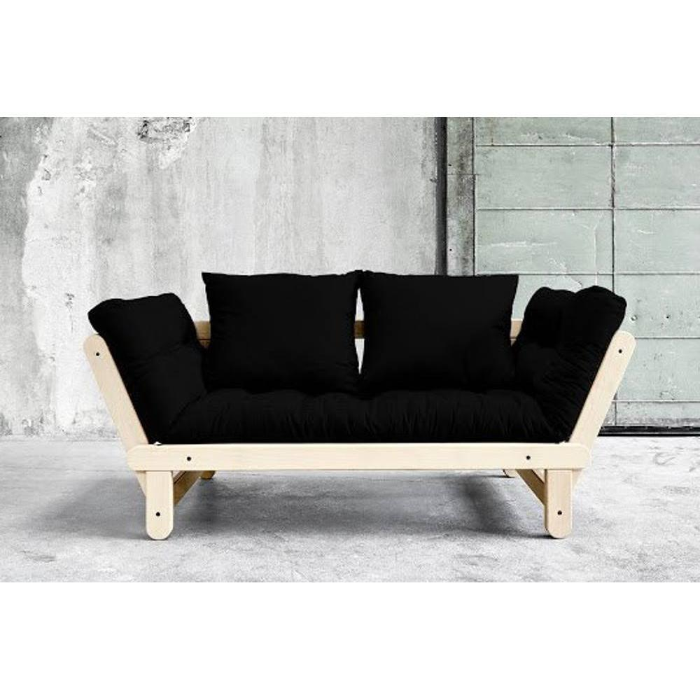 canap s futon canap s et convertibles banquette m ridienne style scandinave futon noir beat. Black Bedroom Furniture Sets. Home Design Ideas