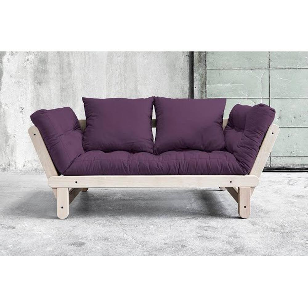 Canap s futon canap s et convertibles banquette - Canape convertible violet ...