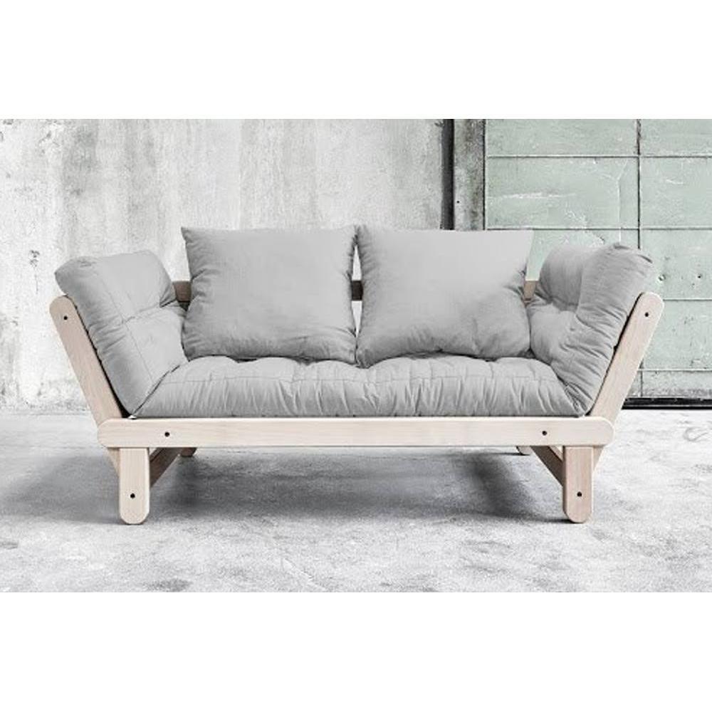 canap s futon canap s et convertibles banquette m ridienne convertible futon gris clair beat. Black Bedroom Furniture Sets. Home Design Ideas