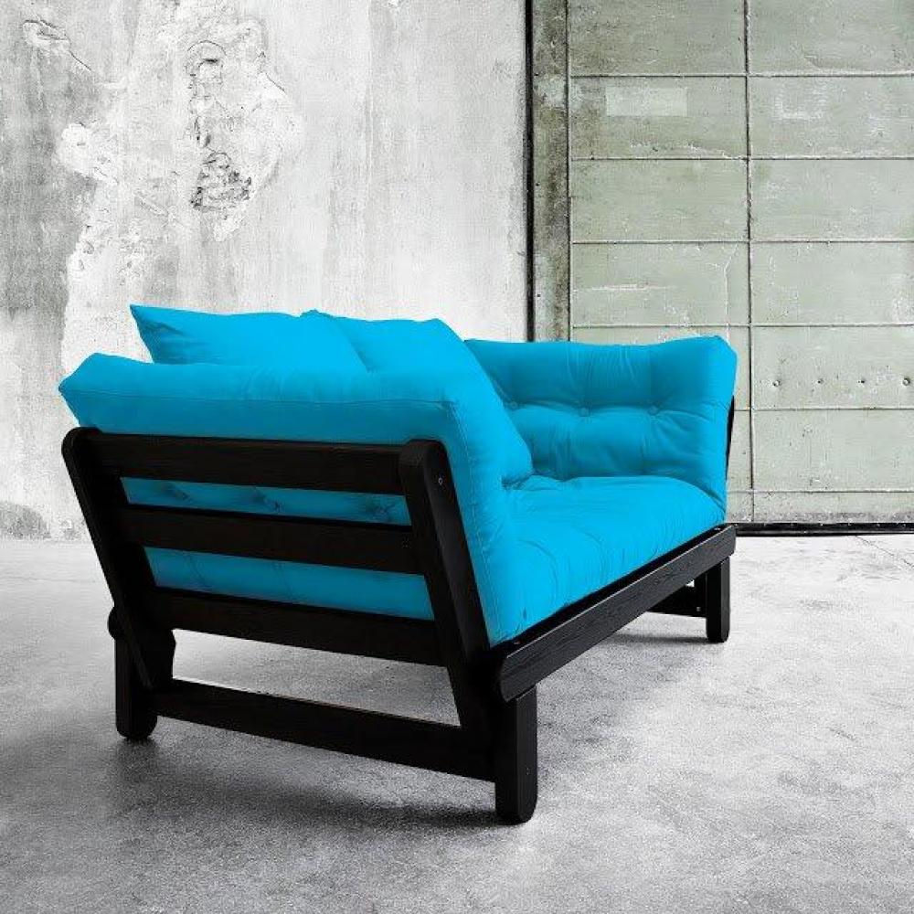 Canap s futon canap s et convertibles banquette m ridienne noire convertibl - Banquette futon convertible ...