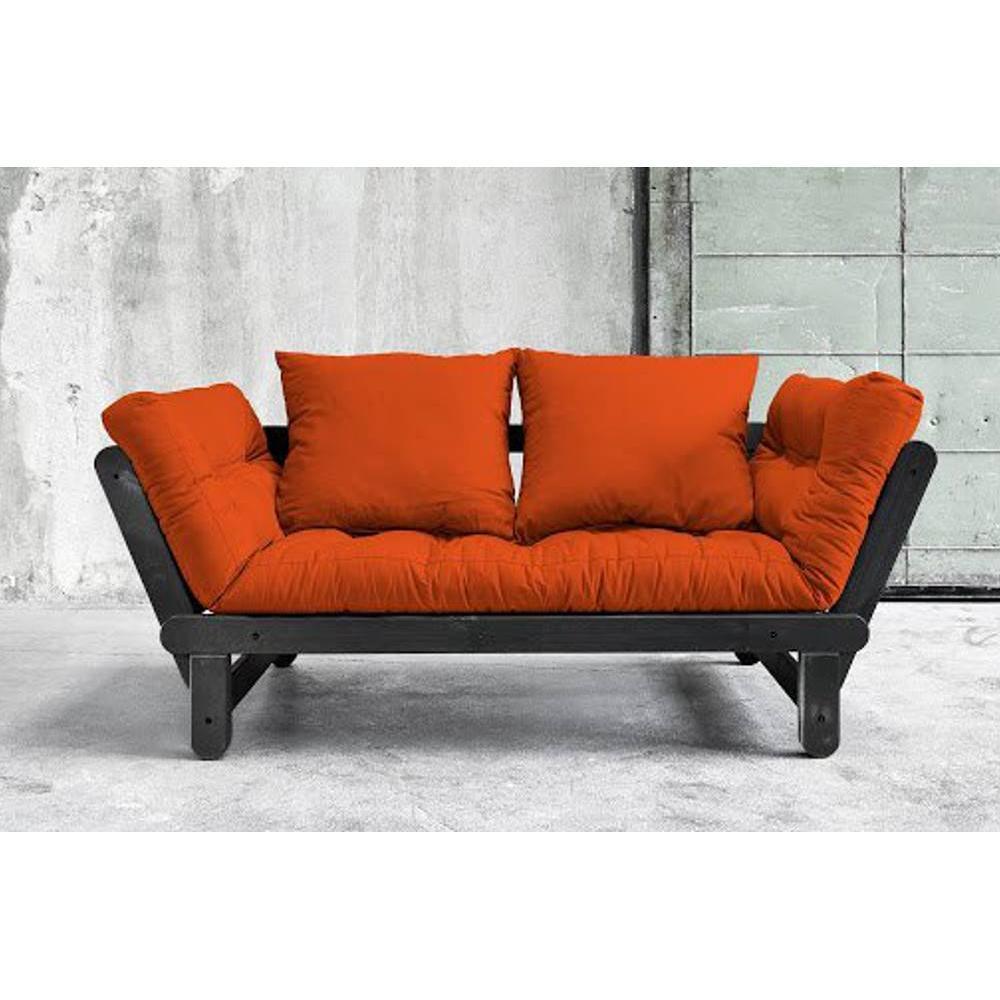 canap s futon canap s syst me rapido banquette m ridienne noire convertible futon orange beat. Black Bedroom Furniture Sets. Home Design Ideas