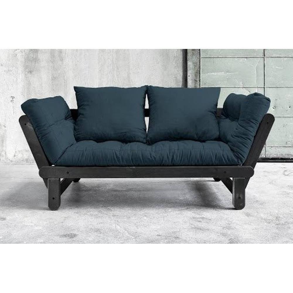 canap s futon canap s et convertibles banquette m ridienne noire convertible futon bleu beat. Black Bedroom Furniture Sets. Home Design Ideas