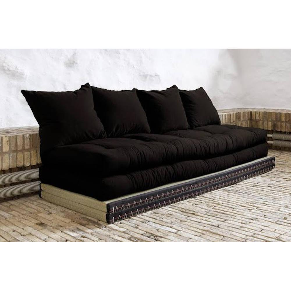 canap s futon canap s et convertibles banquette convertible tatami chico matelas futon noir. Black Bedroom Furniture Sets. Home Design Ideas