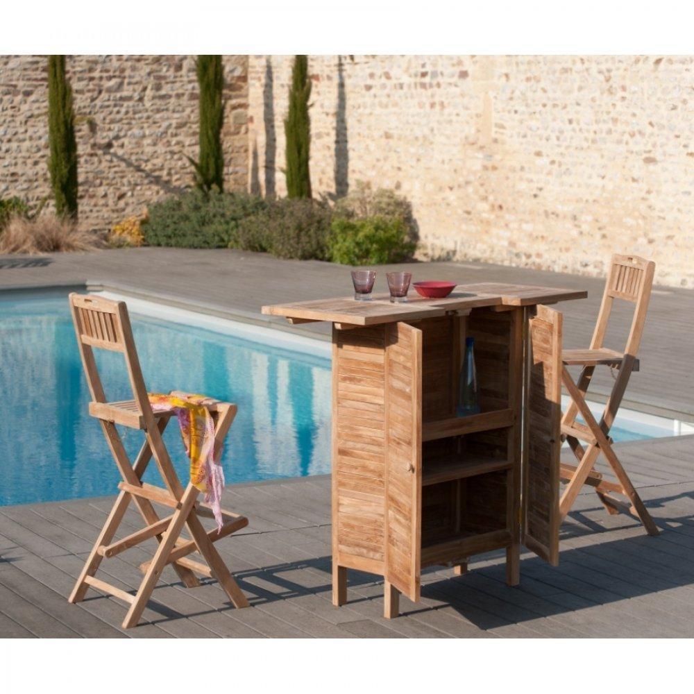bars tables et chaises bar de jardin fun en teck multi. Black Bedroom Furniture Sets. Home Design Ideas