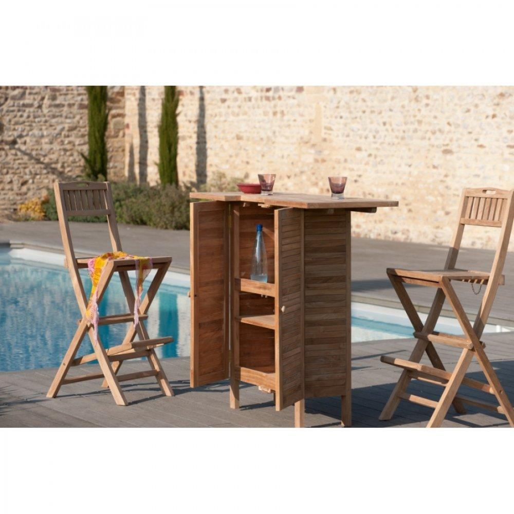 bars meubles et rangements bar de jardin fun en teck. Black Bedroom Furniture Sets. Home Design Ideas