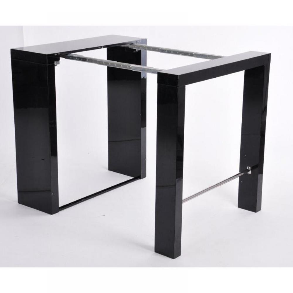 Bars meubles et rangements extend bar noir bar console haute et extensible - Table haute bar extensible ...