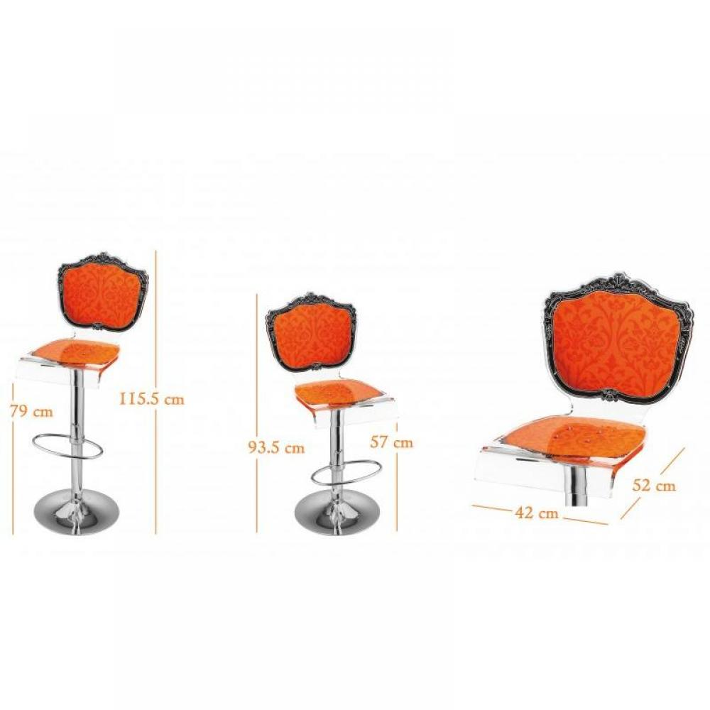 tabourets de bar tables et chaises tabouret chaise de bar baroque orange plexiglass acrila. Black Bedroom Furniture Sets. Home Design Ideas