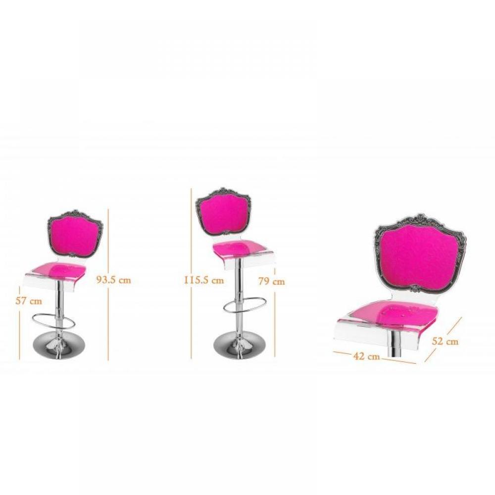 tabourets de bar meubles et rangements tabouret chaise de bar baroque rose plexiglass acrila. Black Bedroom Furniture Sets. Home Design Ideas
