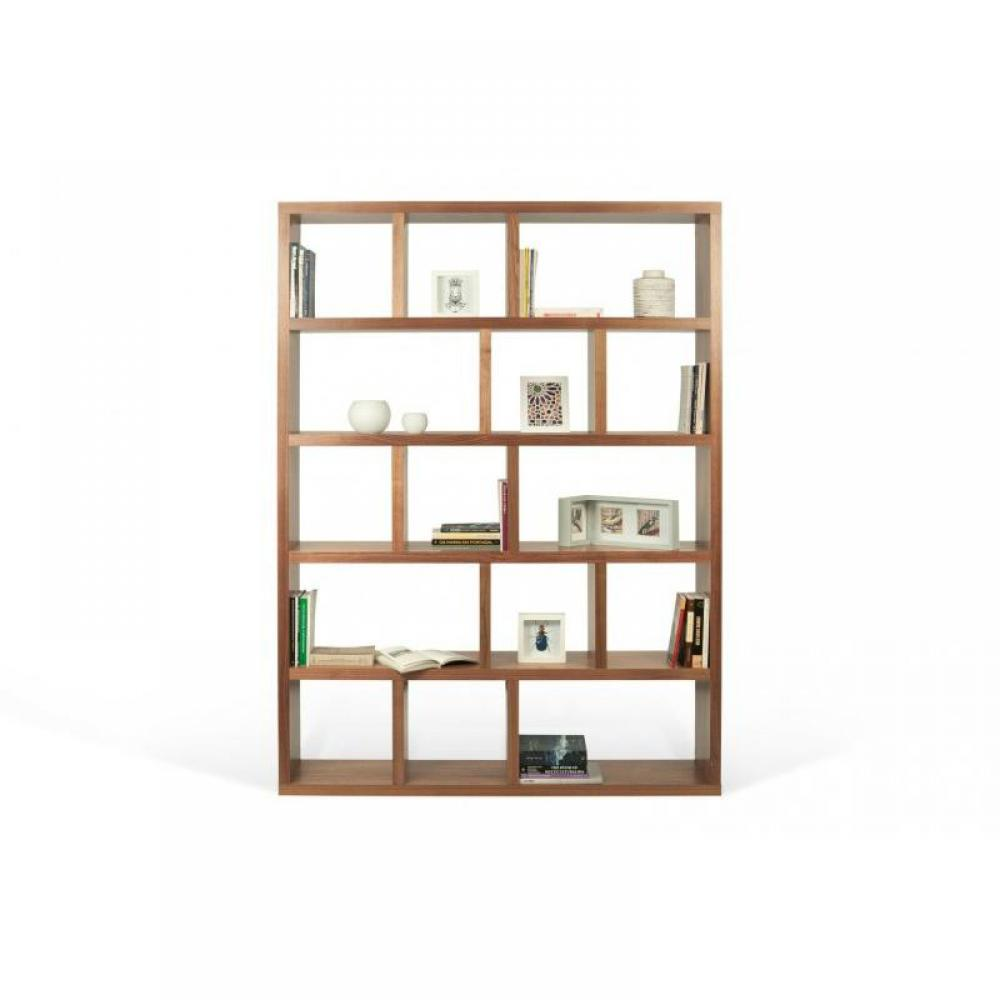 biblioth ques tag res meubles et rangements berlin biblioth que tag re noyer 15 casiers. Black Bedroom Furniture Sets. Home Design Ideas