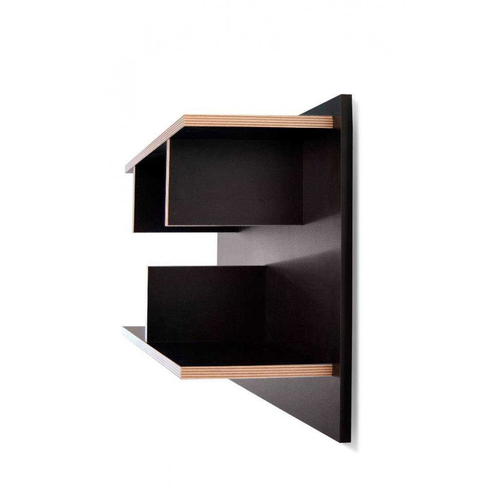 Biblioth ques tag res meubles et rangements etag re - Etagere murale noire design ...