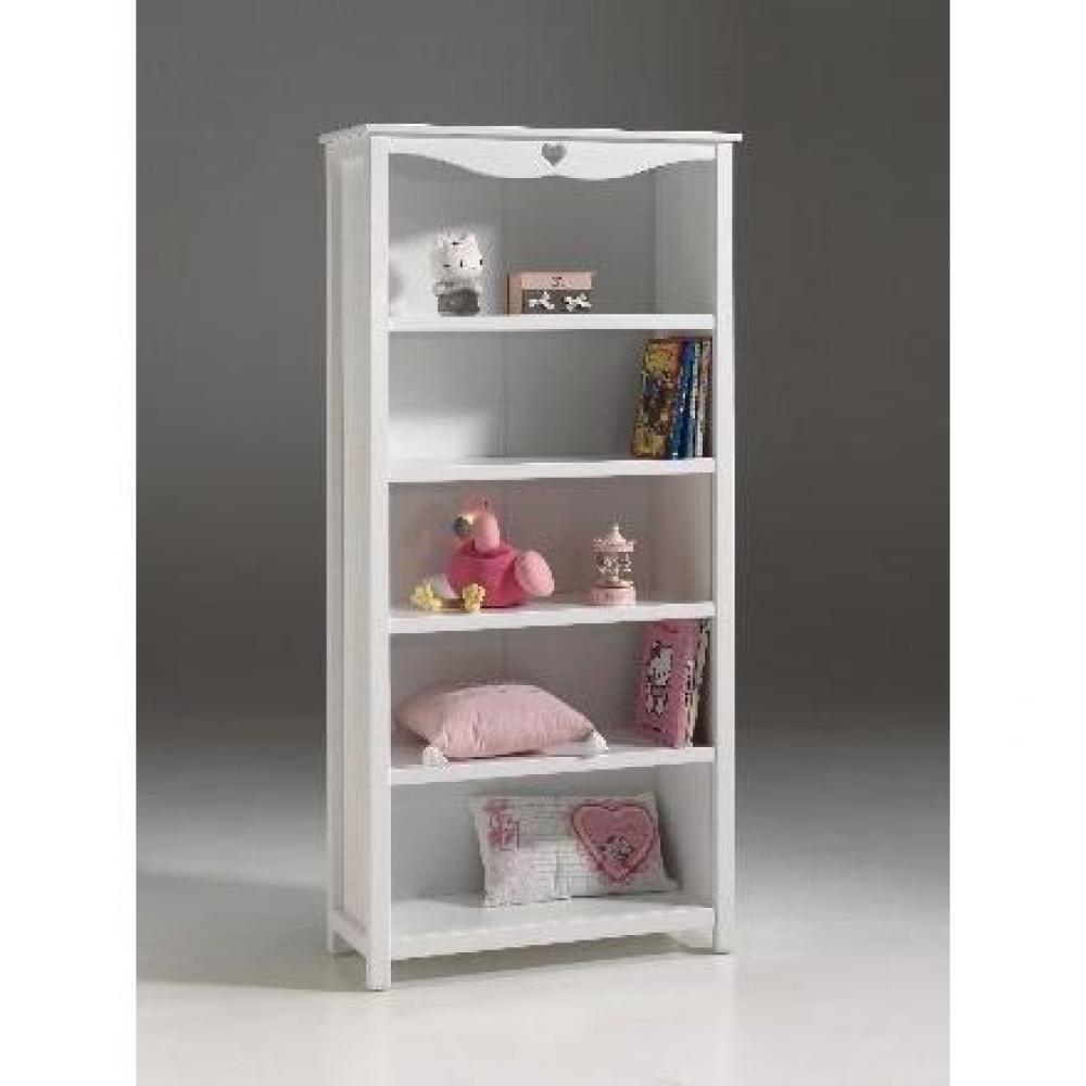 Biblioth ques tag res meubles et rangements biblioth que amori laqu e blan - Bibliotheque blanche laquee ...