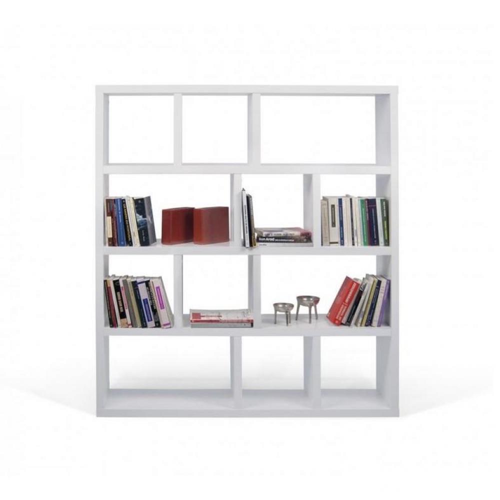 tag res de s paration meubles et rangements temahome berlin biblioth que tag re blanche. Black Bedroom Furniture Sets. Home Design Ideas