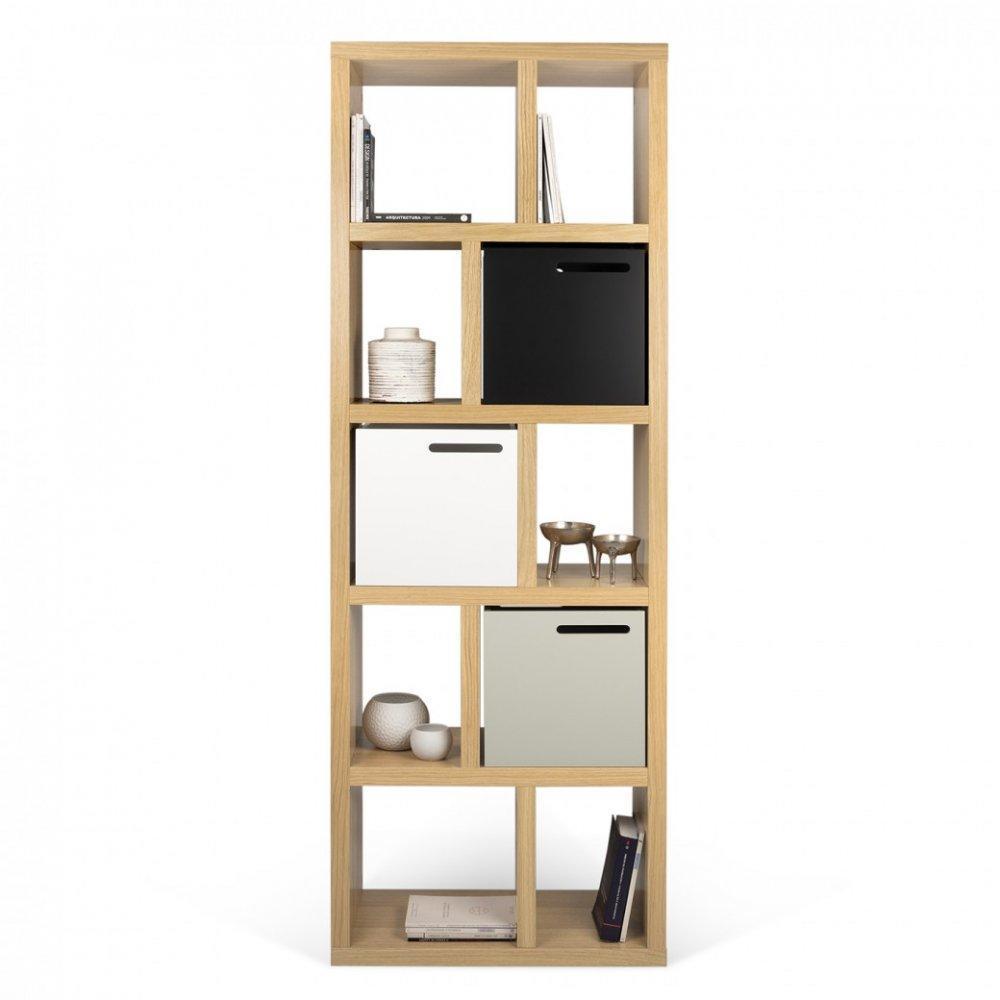 biblioth ques tag res meubles et rangements temahome berlin biblioth que ch ne 5 niveaux. Black Bedroom Furniture Sets. Home Design Ideas