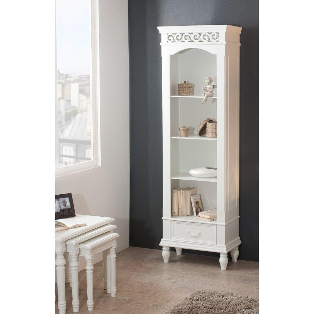 biblioth ques tag res meubles et rangements biblioth que blanche 4 cases 1 tiroir louise en. Black Bedroom Furniture Sets. Home Design Ideas