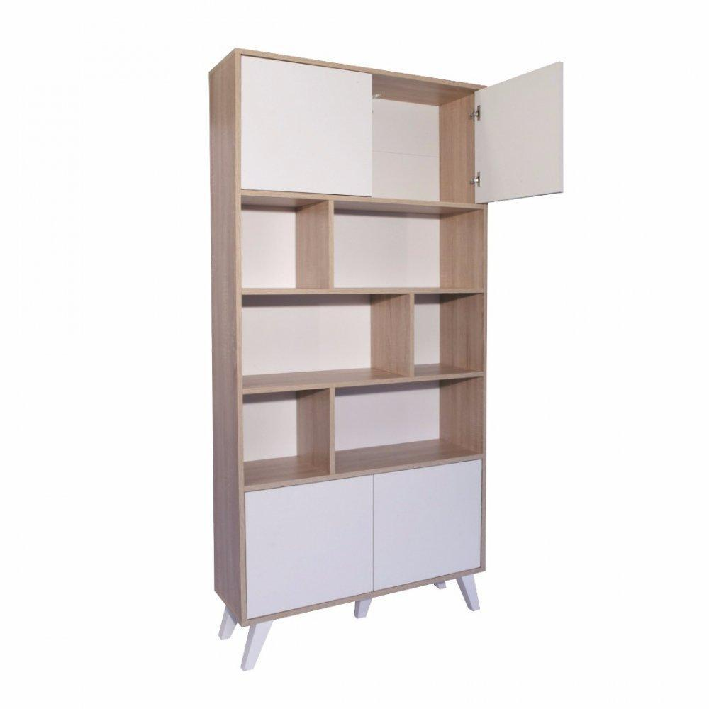 Biblioth ques tag res meubles et rangements biblioth que design scandinave square 4 portes - Bibliotheque scandinave ...
