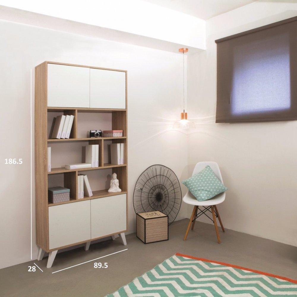 Biblioth ques tag res meubles et rangements biblioth que design scandinave - Bibliotheque design blanc ...