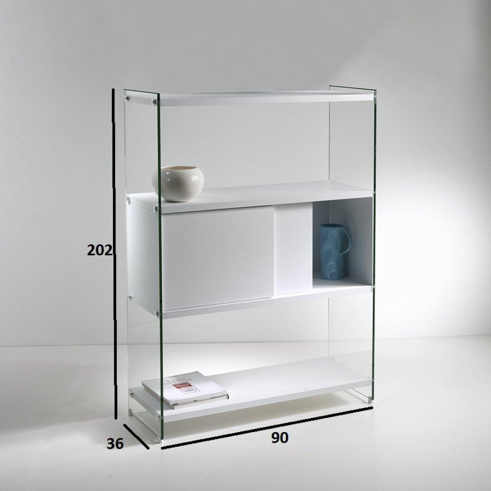 biblioth ques tag res meubles et rangements biblioth que murale babylone 90 cm 1 porte. Black Bedroom Furniture Sets. Home Design Ideas