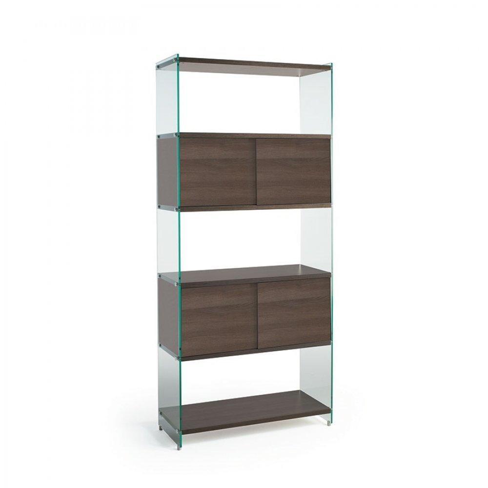 biblioth ques tag res meubles et rangements biblioth que murale babylone 90 cm portes. Black Bedroom Furniture Sets. Home Design Ideas