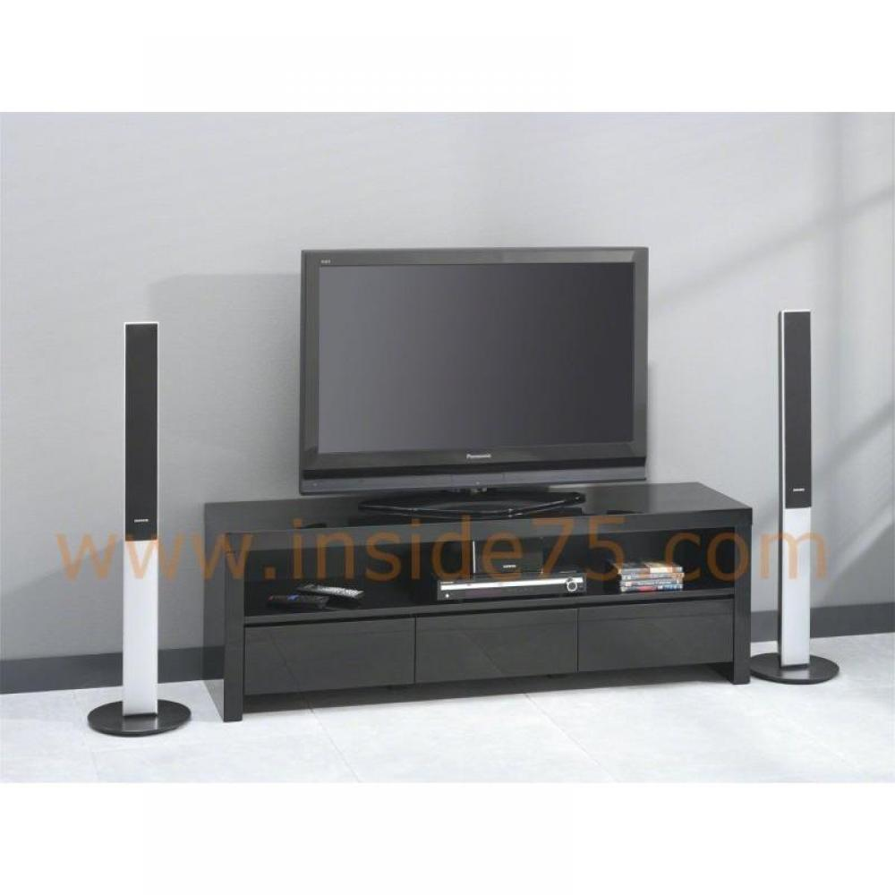 elegant meuble tele ikea noir meubles et rangements black meuble tv avec tiroirs laqu with. Black Bedroom Furniture Sets. Home Design Ideas