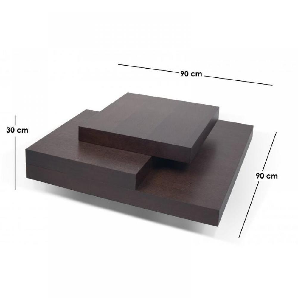 Tables basses tables et chaises temahome slate table basse teint e chocolat - Salon sans table basse ...