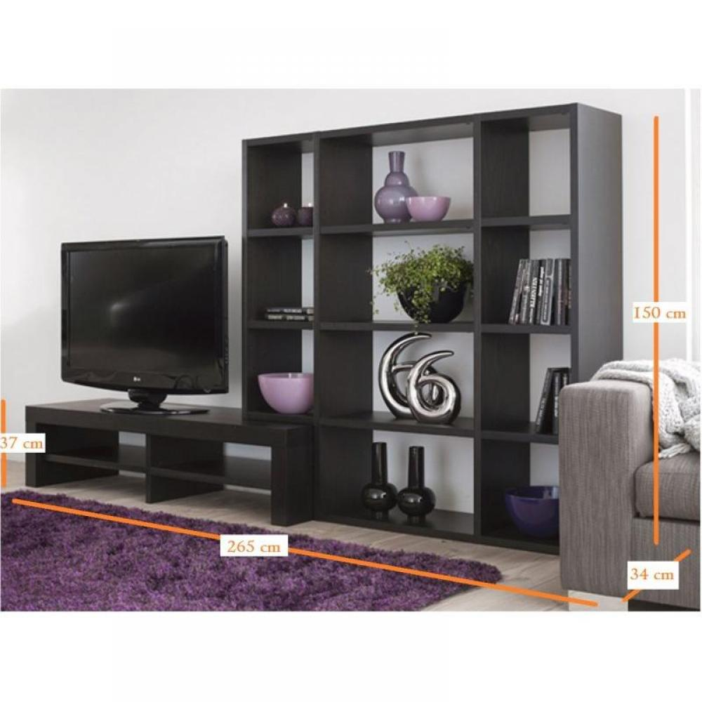 meuble tv bibliotheque modulable id es de d coration et. Black Bedroom Furniture Sets. Home Design Ideas