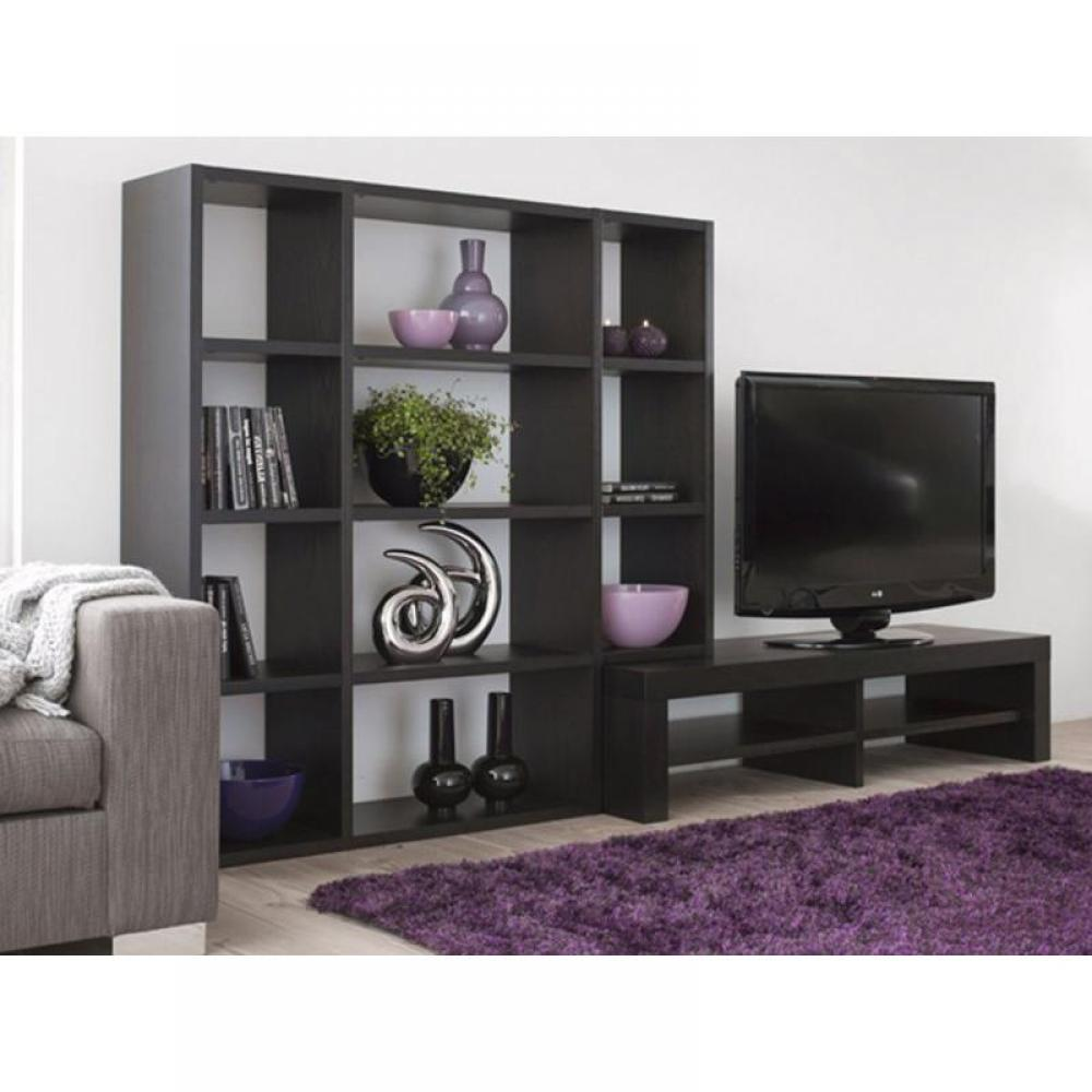 Biblioth ques tag res meubles et rangements temahome for Meuble tv wenge