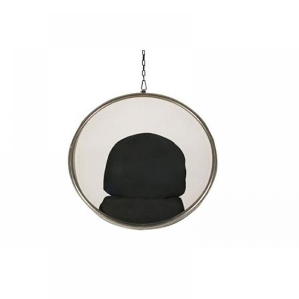 fauteuils et poufs canap s et convertibles fauteuil boule suspendu bubble chair noir transparent. Black Bedroom Furniture Sets. Home Design Ideas