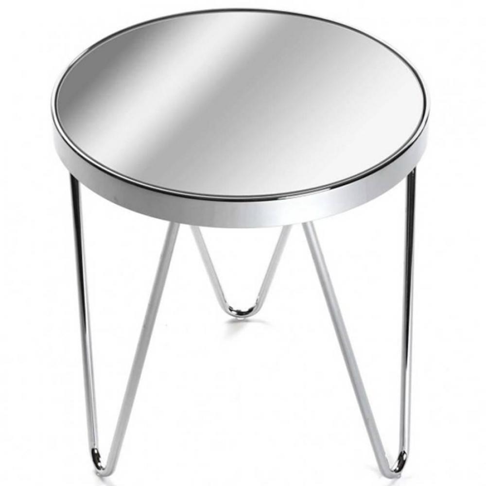 bouts de canapes meubles et rangements bout de canap cromo en verre pied chrome eiffel inside75. Black Bedroom Furniture Sets. Home Design Ideas
