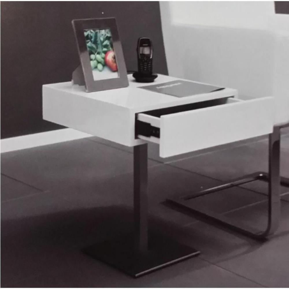 bouts de canapes tables et chaises bout de canap design glossy avec tiroir. Black Bedroom Furniture Sets. Home Design Ideas
